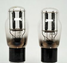 6B4g Sylvania Dual monoplate SELECTED & MATCHED triode 2x TUBES (2a3 6a3...)