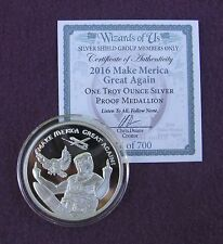 "2016 SSG  ""Wizards of Us"" TRUMP - MAKE MERICA GREAT AGAIN  - 1 oz Silver Proof"