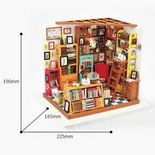 Robotime Diy Wooden Doll House 1:24 Kits Miniature Furniture Sam's Study Room