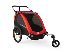 Burley Outdoor 2 Kids Bike Trailer, Carriage, Comfortable & Foldable, in Red