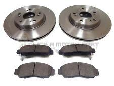 Honda FR-V 1.8i-VTEC 04//07 Drilled Grooved Front Brake Discs+Pads