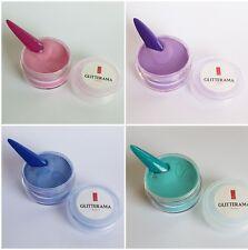 Coloured acrylic powder bundle pre-mixed 4g  glitterama pink, blue, purple