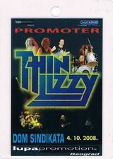 Thin Lizzy 04.10.2008. Belgrade Serbia - Promoter - Backstage Pass