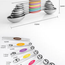 8 PCS Double-head Stainless Steel Magnetic Measuring Spoons Baking Tools Set AUS