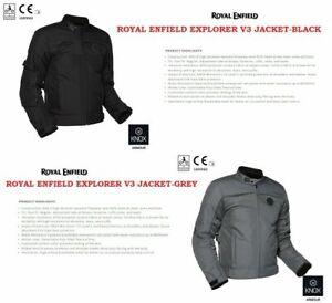 Royal Enfield Explorer V3 Riding Jacket Black / Grey KNOX CE Level 2 Protector