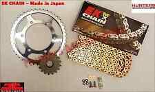 Honda CBR900RR Fireblade (1996 to 1999) EK Gold X-Ring Chain & JT Sprockets Kit