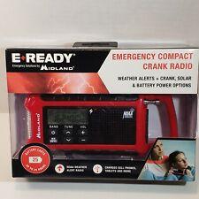 Midland E + Ready ER210 Emergency Compact Crank Weather Radio Solar & Battery