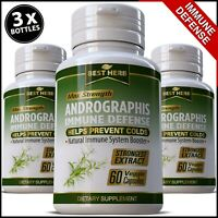 Andrographis Extract HERBAL IMMUNE DEFENCE SUPPORT STRONG IMMUNITY Pill Capsules