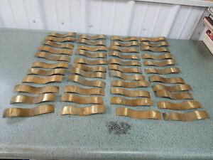 Vintage Brass Window Hardware! Side Brake for window track lot of 44