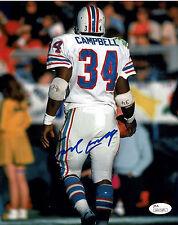 Earl Campbell Autographed Houston Oilers 8X10 Football Photo #31, JSA
