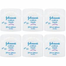 Johnson's Baby 200 Cotton Buds 100% Pure ,2,3 or 6 Packs