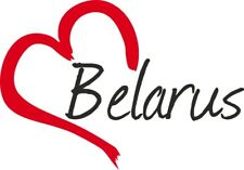 """Auto Aufkleber """" Belarus """" Sticker Weißrussland ca.9x13cm konturgeschnitten"""