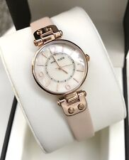Anne Klein Watch * 9442RGLP MOP Rose Gold Dial Blush Leather Women COD PayPal