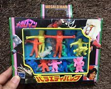 Megaloman  VINTAGE RUBBER MINI FIGURE SET TAKATOKU  JAPAN MEGAROMAN