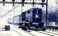 Central of New Jersey GP40P postcard  passenger locomotive train railroad