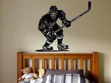 Wall Decal Sticker bedroom ice hockey player sport game skate boy nursery bo2752