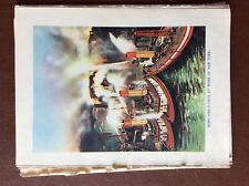 G1q Ephemera 1935 firemen book picture fire float new york at work