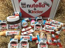 Nutella & Kinder Gift Box - Personalised Jar - Sweets Chocolate Hamper 30 Items