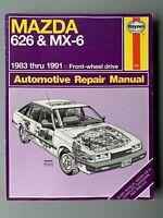 1983-1991 MAZDA 626 MX-6 SERVICE SHOP HAYNES REPAIR MANUAL 1082