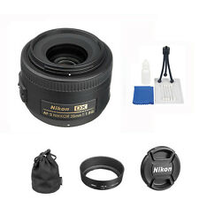 Nikon AF-s 35mm f/1.8G DX Nikkor Lens + 5 Pc Accesory Kit For Nikon DLSR Cameras