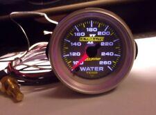 "Autometer Ultra Lite II 2-1/16"" Electric Full Sweep Water Temp Gauge 4955 NICE"
