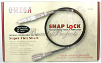"Super Flex Shaft Snap Lock Nail Drill 3/32"" Shank New With Box"