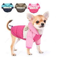 Dog Coats Winter Warm Padded Jacket Waterproof Reflective Chihuahua Clothes Pink