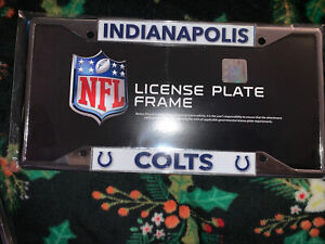 Indianapolis Colts NFL Lightweight Chrome Metal License Plate Frame
