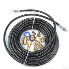 "Sewer Line and Drain Jetter Kit, 1/4"" x 50' Hose with Sewer Nozzle & Adapters"