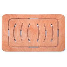 Pedana doccia antiscivolo per piatto 121 x 62 in legno marino okumè ultrasottile