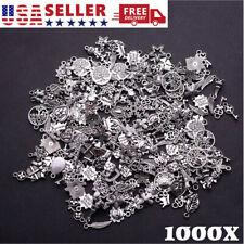 Wholesale 100-1000pcs Bulk Lot Tibetan Silver Mix Charm Pendants Jewelry Diy
