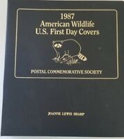 1987 AMERICAN WILDLIFE U.S. FIRST DAY COVERS ALBUM POSTAL COMMEMORATIVE SOCIETY
