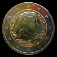 Coin 2 Euro Bi Metallic Latvia UNC From Roll