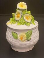 Vintage - Geo Z Lefton Daisy Jam Pot/Sugar bowl - #3858