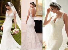 2017 New Mermaid Bridal Gown Wedding Dress Custom Size 6 8 10 12 14 16 18+++