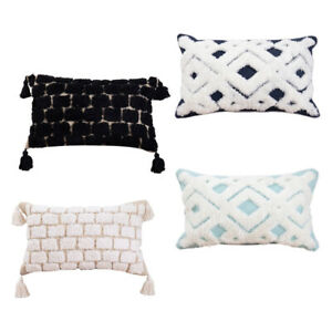 Boho Throw Pillow Covers Soft Tufted Decorative Cushion Covers Farmhouse Bed