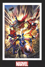 Fearless- Marvel Fine Art Limited Edition Lithograph-Avengers,Wolverine,Spidy