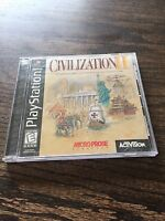 CIVILIZATION II Playstation One PS1 Game Complete