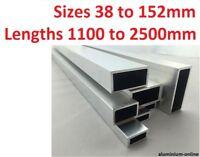 ALUMINIUM RECTANGULAR BOX SECTION 38mm 50mm 63mm 76mm 101mm 127mm 152 1 - 2.5M