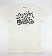 $120 Ralph Lauren Men White Black Denim & Supply Bike Crew Neck T Shirt Tee S