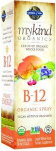 mykind Organics Organics B12 spray by Garden of Life, 2 oz