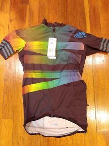 NWT Adidas Adistar Pride Maillot Cycling Form Fitting Jersey FJ6571 Men's Small