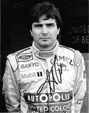 Nelson Piquet SIGNED  Original Period Benetton Portrait 1991