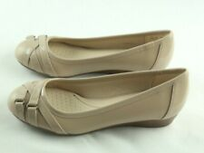 Life Stride Flair Demi Wedge Womens Sz 7 M Taupe Patent Slip On Shoes