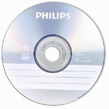 1000 PHILIPS Logo 52X CD-R CDR Blank Disc Recordable Media 80Min 700MB
