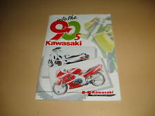 KAWASAKI AR80 KR1 ZZR1100 ZX10 ZXR750 AR125 GPZ900 ZXR750 GPX750 AR50 BOOKLET