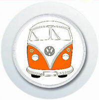 ORANGE CAMPER VAN CAR TAX DISC HOLDER REUSABLE
