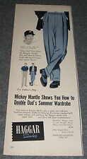 Mickey Mantle 1950s Haggar Slacks Magazine Advertisement Nesbitt's Orange Drink