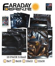 Faraday Cage ESD EMP Bags 10 BULK LOT iPhone LARGE Laptop Preppers/Survivalists