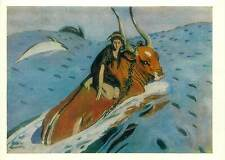 Painting Postcard Valentin Serov The rape of Europa